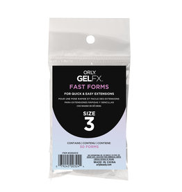 ORLY GELFX Fast Forms Size 3 50pc/pack