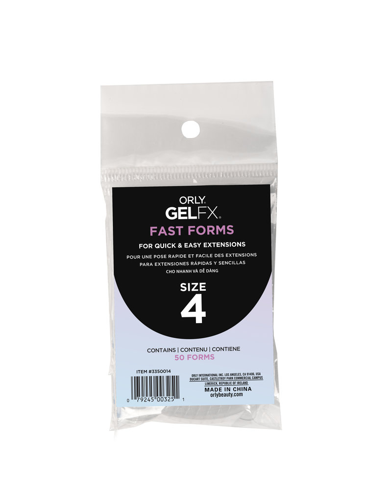 ORLY GELFX Fast Forms Size 4 50pc/pack
