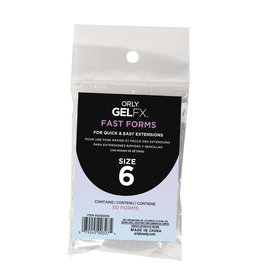 ORLY GELFX Fast Forms Size 6 50pc/pack