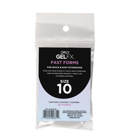 ORLY GELFX Fast Forms Size 10 50pc/pack