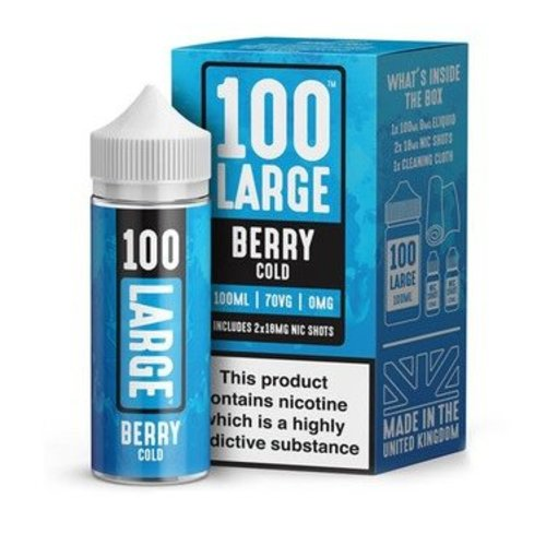 Berry Cold By 100 Large 100ml 0mg