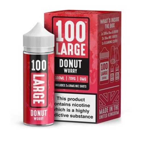 Donut Worry By 100 Large 100ml 0mg