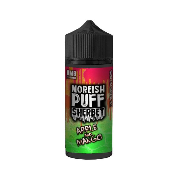 Apple and Mango By Moreish Puff Sherbet 100ml 0mg
