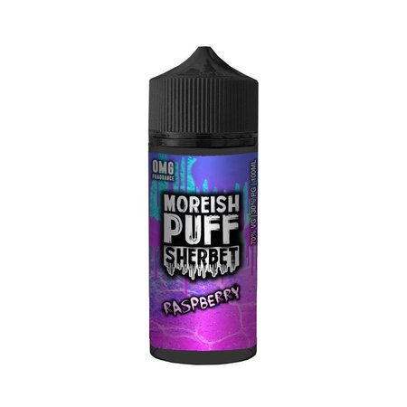 Raspberry By Moreish Puff Sherbet 100ml 0mg