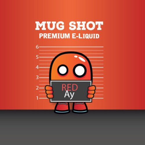 Mood Eliquid Red Ay Mugshot  Shortfill (free nic shot).