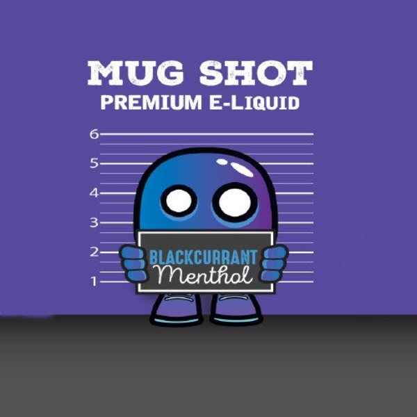 Blackcurrant Menthol Mugshot  Shortfill (free nic shot).