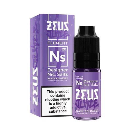 The Black Reloaded Salt By Zeus Juice 20mg 10ml