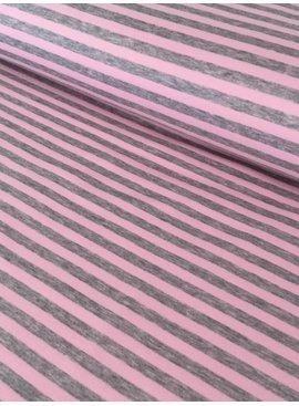 14€ p/m - Grijs Roze Gestreept - Alpenfleece