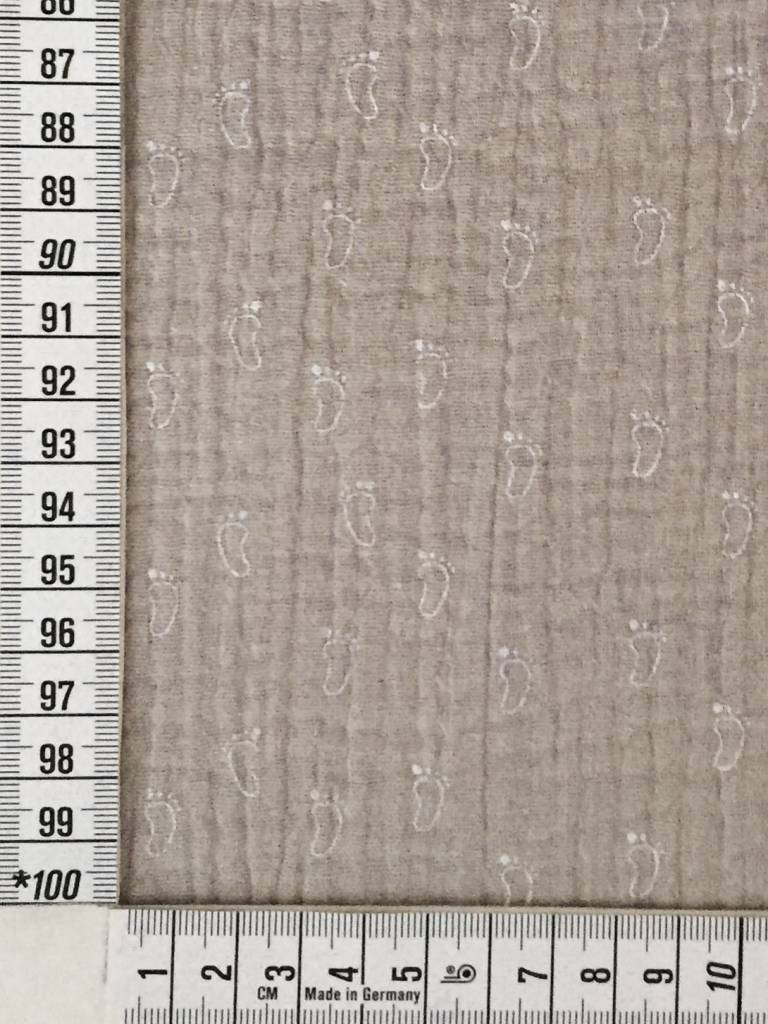 10,50€ p/m - Babyvoetjes Zand - Hydrofiel Stof