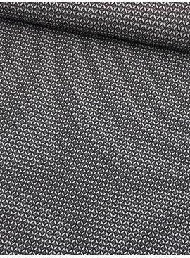 10€ p/m - Zwart Wit Ruitjes - Elastisch Katoen (lengte)
