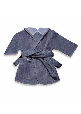 Funnies Geborduurde badjas met naam grijs - vanaf: