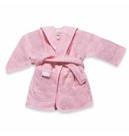 Funnies Geborduurde badjas met naam babyroze - vanaf:
