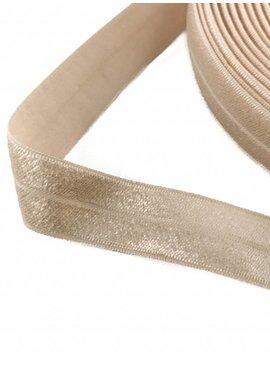1.10€ p/m - Zand - Elastische Biaisband