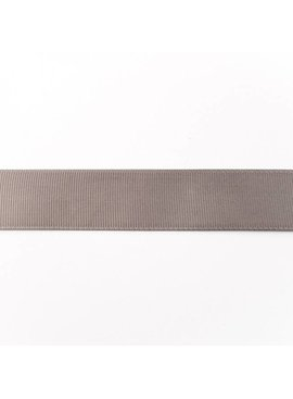 0,50€ p/m - Ribsband 25 mm - Donkergrijs