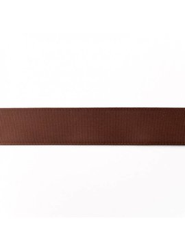 0,50€ p/m - Ribsband 25 mm - Bruin