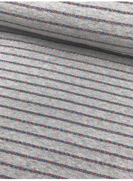 14,50€ p/m - Regenboog Glitter Strepen - Tricot Bedrukt