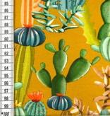 16€ p/m - Digitaal Cactussen op Oker - French Terry