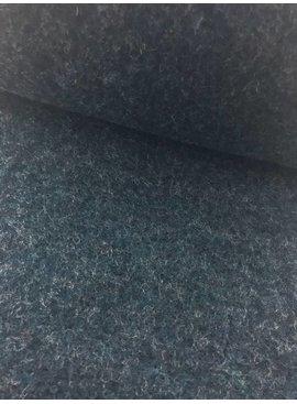 40cm x 145cm - Gemeleerd Donker Jeansblauw - Gekookte Wol
