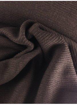 12,50€ p/m - Structuur Chocolade - Sweaterstof