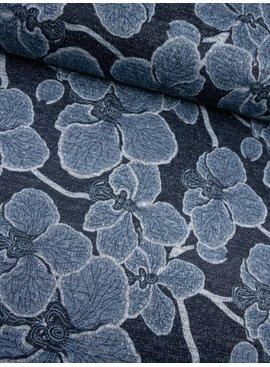 0,40m x 1,50m - Lurex Flowers - Gebreide Jacquard