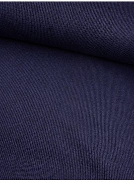 23€ p/m - Jeansblauw Double Face - Gebreid
