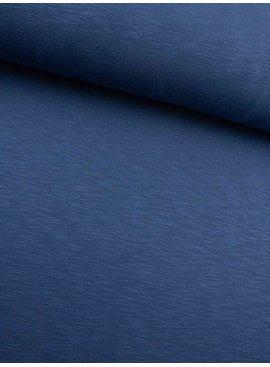 0,40m x 160cm - Jeansblauw Melee - Joggingstof