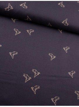 18€ p/m - Birdie Dark Purple - Katoen Bedrukt