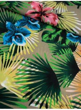0,55m x 1,45m - Gekleurde Bloemen - Satijn