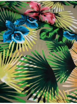 7€ p/m - Gekleurde Bloemen - Satijn