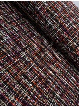 16€ p/m - Bruin Fuchsia Jacquard - Tweed