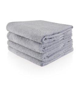 Funnies Geborduurde Handdoek met naam - Lichtgrijs