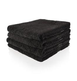 Funnies Geborduurde badhanddoek met naam - Antraciet