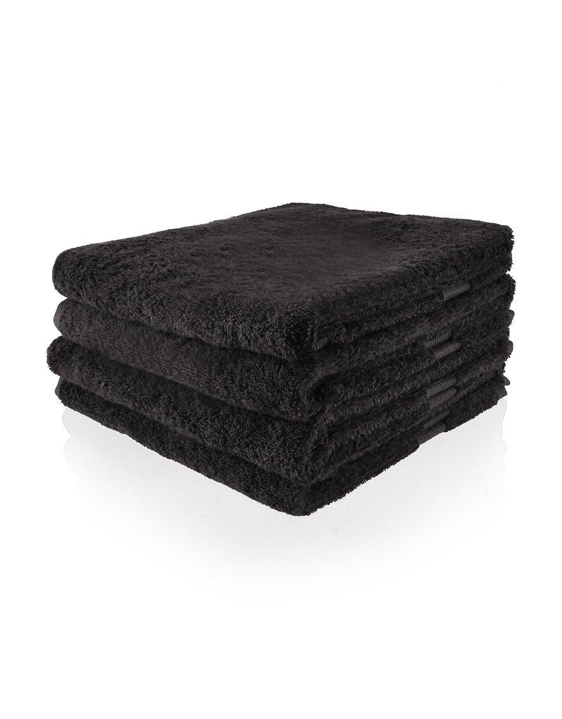 Geborduurde badhanddoek met naam - Antraciet