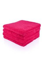 Geborduurde badhanddoek met naam - Fuchsia