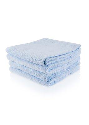 Funnies Geborduurde badhanddoek met naam - ijsblauw