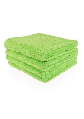Funnies Geborduurde badhanddoek met naam - Lime