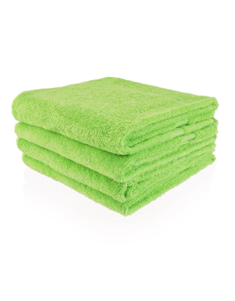 Geborduurde badhanddoek met naam - Lime