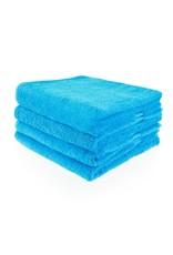 Geborduurde badhanddoek met naam - Turquoise