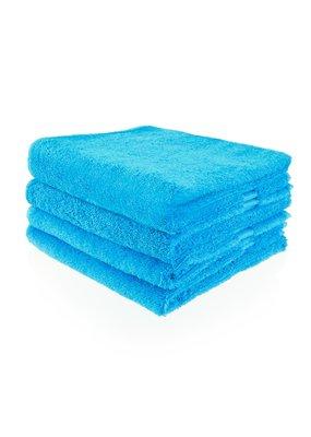 Funnies Geborduurde badhanddoek met naam - Turquoise