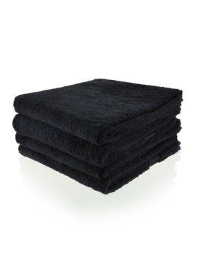 Funnies Geborduurde Handdoek met naam - Zwart