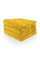 Funnies Geborduurde badhanddoek met naam - Oker