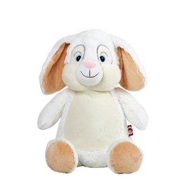 Cubbies Cubbies konijn - langoor wit geborduurd met naam of tekst