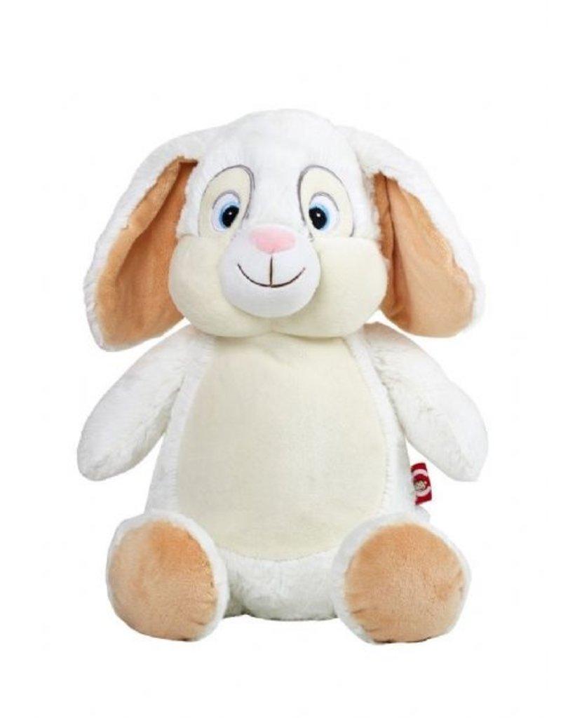 Cubbies Cubbies konijn - langoor wit geborduurd met naam of teskt