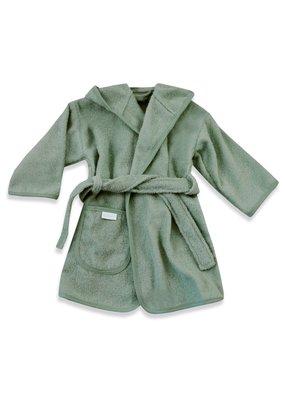 Funnies Geborduurde badjas met naam Stone Green - vanaf: