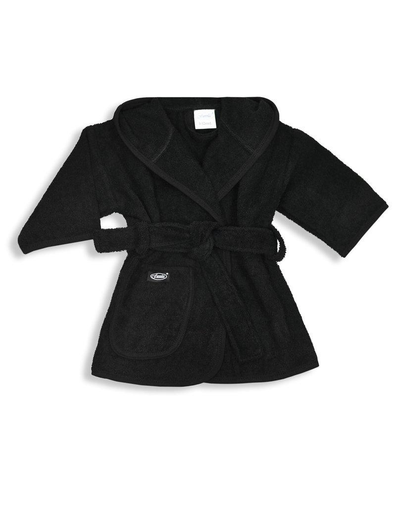 Funnies Geborduurde badjas met naam Zwart - vanaf: