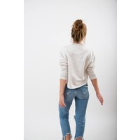 WOMENS LES OISEAUX CROPPED PULLOVER