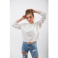 DAMEN THE DACHSHUND PATCH CROPPED PULLOVER