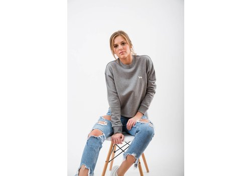 WOMENS THE DACHSHUND PATCH CROPPED PULLOVER