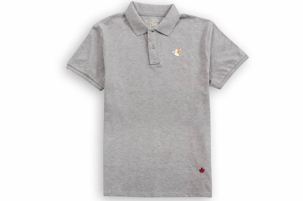Truewoods Enten Patch Poloshirt Farbe Grau Kostenloser Versand