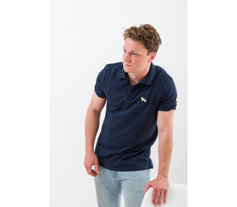 MENS THE DACHSHUND PATCH POLO